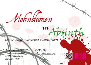Mohnblumen in Absinth